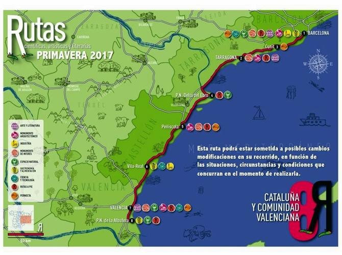 Resultado de imagen de programa rutas científicas artísticas y literarias 2017 cataluña